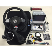 Kit Volante Multifuncional + Central Multimídia Vw Gol G3