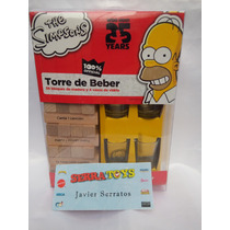 Torre De Beber Los Simpsons Juego De Mesa Tipo Jenga Simpson