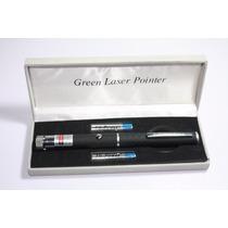Señalador, Laser Tipo Pluma, 200mw, Verde, Figuras- Nuevo