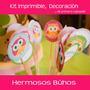 Kit Imprimible Búhos Decoración, Cumpleaños, Baby Shower