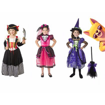 Disfraz Para Niña Halloween Bruja, Pirata & Catrina