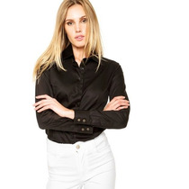 Camisa Dudalina Feminina - Preta