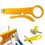 Pela Cable Portatil Ponchar Cortador Stripper Para Rj45 11