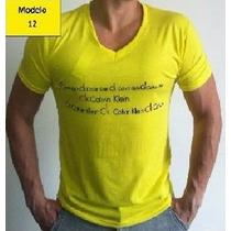 Camisas Ck Camisetas Calvin Klein Gola V ( Compre 2 Leve 3 )