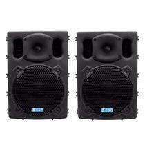Kit Com 2 Caixas Acústica Ativa Csr 770a Usb 100w 8pol