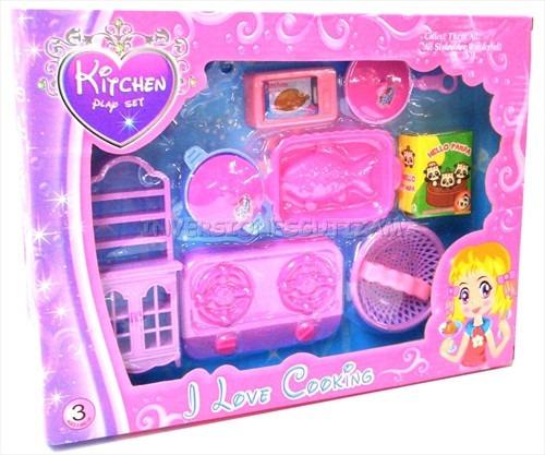 Set de cocina juego para ni as juguete de ollas kitchen for Juego9s de cocina