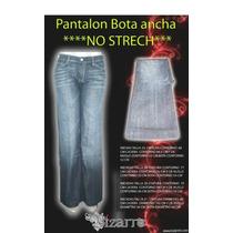 Pantalon Bota Ancha Blue Jeans Corte Alto Talla 28 Nuevo