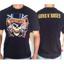 Camiseta De Banda - Guns N Roses - Caveira - Axl Rose Slash