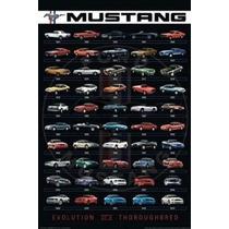 Acuario Ford Mustang Impresión Del Cartel De 24 Por 36 Pulga