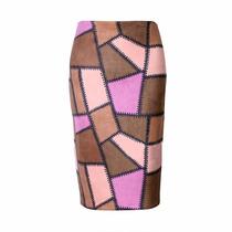 Falda Lapiz Tubo Midi Casual Elegante Moda 2016 Gamuza