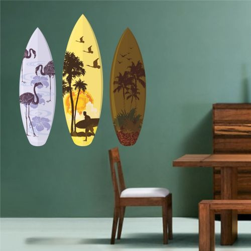 76f116690 Adesivo De Parede Pranchas De Surf 80cmx90cm - R  109