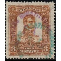 2523 Revolución Gomigrafo Torreón Doble Color 3c Usado 1914