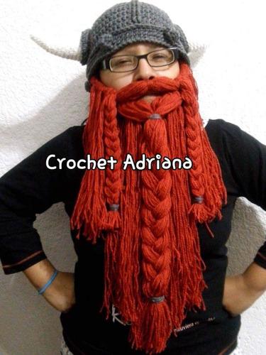 Gorro Vikingo Gris Barba Terracota Desmontable Crochet -   750.00 en Mercado  Libre fd1323ec2b2