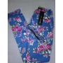 Pantalon De Flores Con Cinturon
