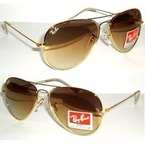 Oculos Rayban Aviador Original Marron Degradê Feminino Masc