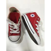 Zapato Converse Nuevo De Niño/a Talla 8 Color Rojo