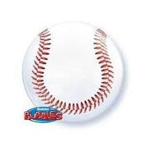 Globo Qualatex Burbuja Bubbles Pelota Beisbol 22 Pulgadas