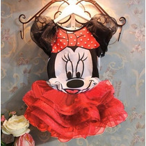 Vestido Fantasia Festa Minnie Infantil Tutu - Frete Gratis