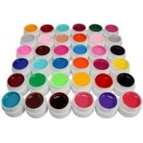 Kit Com 12 Gel Uv Colorido Para Unhas (temos Cabine Uv)