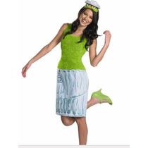 Disfraz Oscar Elmo Plaza Sesamo Mujer Talla Mediana (8/10)
