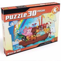 Novo Quebra Cabeça Puzzle Infantil 30 Peças Arca De Noé Grow