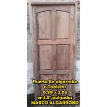 Puerta De Algarrobo Frente Alta Calidad