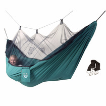 Hamaca Portatil Camping Con Tela Mosquitera Soporta 150kg