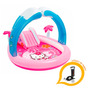 Pileta Inflable C/ Tobogán Intex Kitty + Inflador De Regalo!