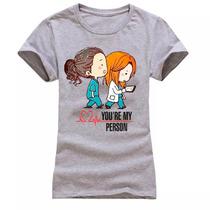 Camisa Camiseta Feminina Baby Look Grey