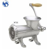 Maquina Picar Picadora Carne Fundicion Manual Metalica Nº22