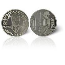 Moneda De Plata De Argentina Jorge Luis Borges