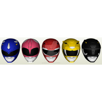 5 Capacete Power Rangers Mm Papercraft