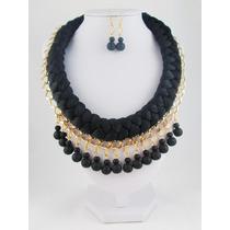 Collar Para Dama, Collares De Moda, Bisuteria Fina, Negro