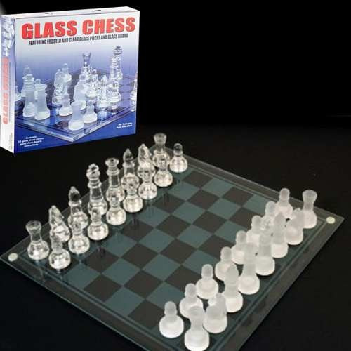 Gm ajedrez de vidrio glass chess s 35 00 en mercado libre - Cuanto cuesta cristal para mesa ...