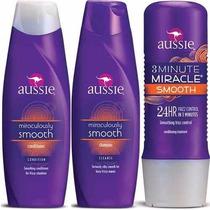 Kit Aussie Smooth Shampoo+condicionador+máscara