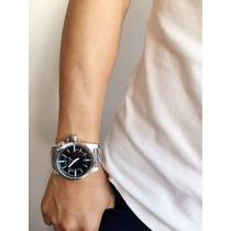 Relógio Masculino Original Atlantis Prata Com Frete Grátis