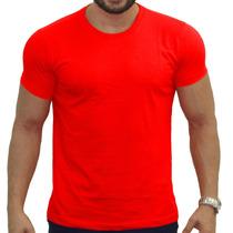 Camisas Malha Lisa Algodão - Kit Com 10 Atacado Pra Revenda