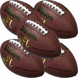 Pack 5 Bolas Futebol Americano Wilson Nfl Super Grip Oficial - R  364 b36eac9439015