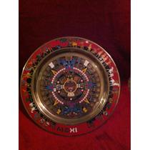 Plato Decorativo Bronce Calendario Azteca