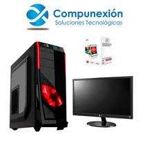 Computadora Gamer A4 4000 Ram4gb Hd500gb Gabinet G410 Led19