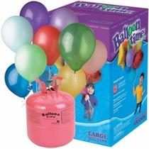 Tanque De Helio Desechable Y 50 Globos Balloon Time