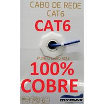Cabo Rede Cat6 100% Cobre Puro Azul 305m Utp Lan Caixa Mymax