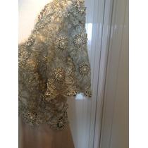 Vestido Clássico Com Rico Bordado - Mãe De Noiva Ou Avó.