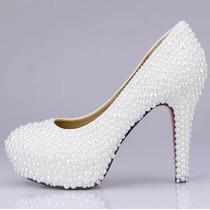 Sapato Para Noivas - Pérolas