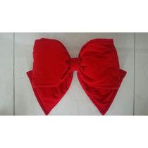 Kit 5 Laços Em Veludo Vermelho 36 Cm