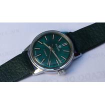 Vtge,reloj Silvana ,cuerda 17 Rubies Dial Verde Original