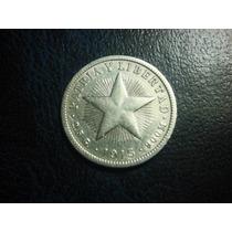 Cuba Diez Centavos 1915 Plata Ley 0.900 15mm