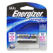 Pila De Litio Energizer Aaa Con 2 Pilas En Blister