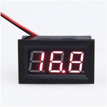 Voltímetro Digital Medidor De Bateria Som Automotivo
