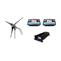 Planta Generador Eolico 400w 12v Con Baterias E Inversor.
